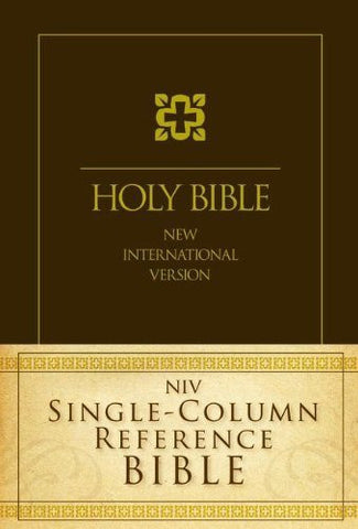 NIV, Single-Column Reference Bible, Hardcover