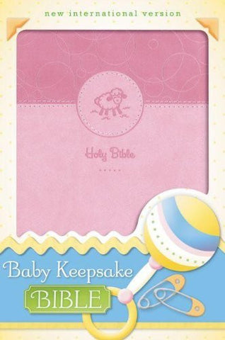 NIV, Baby Keepsake Bible, Imitation Leather, Pink