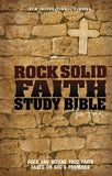 NIV, Rock Solid Faith Study Bible for Teens, Imitation Leather, Purple: Build and defend your faith based on God's promises