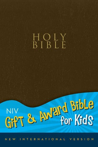 NIV, Gift and Award Bible for Kids, Imitation Leather, Blue, Red Letter