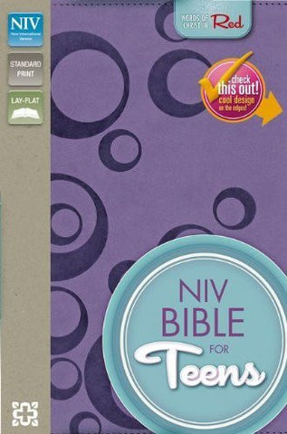 NIV, Bible for Teens, Imitation Leather, Purple, Red Letter: Red-Letter Edition