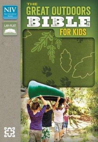NIV, The Great Outdoors Bible for Kids, Imitation Leather, Green, Red Letter