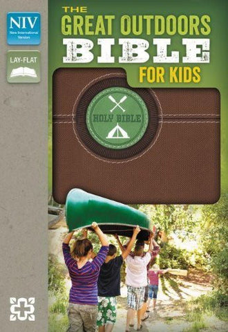 NIV, The Great Outdoors Bible for Kids, Imitation Leather, Brown, Red Letter