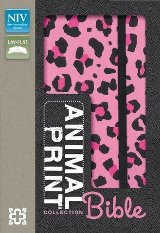 NIV, Animal Print Collection Bible: Leopard, Imitation Leather, Pink/Black