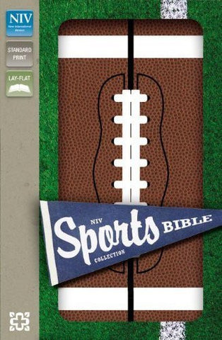 NIV, Sports Collection Bible: Football, Imitation Leather, Brown/White
