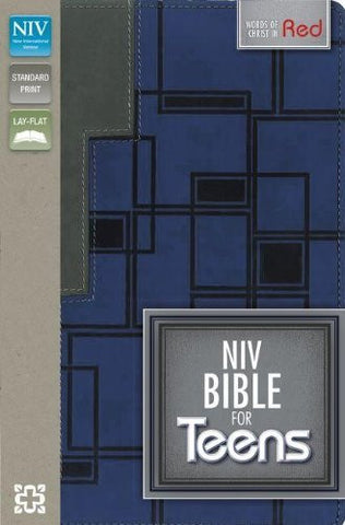 NIV, Bible for Teens, Imitation Leather, Navy/Gray