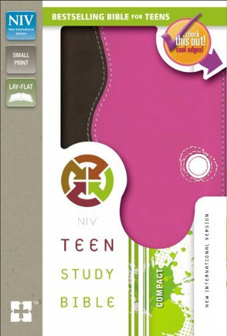 NIV, Teen Study Bible, Compact, Imitation Leather, Pink/Brown