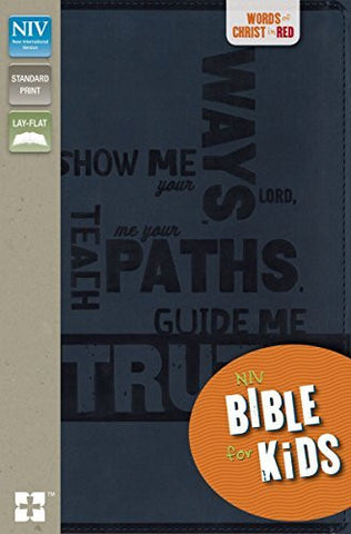 NIV, Bible for Kids, Imitation Leather, Navy, Red Letter