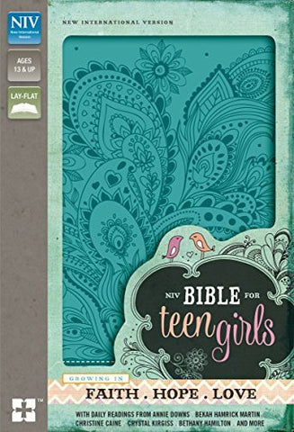 NIV, Bible for Teen Girls, Imitation Leather, Blue: Growing in Faith, Hope, and Love