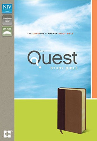 NIV, Quest Study Bible, Imitation Leather, Burgundy/Tan: The Question and Answer Bible