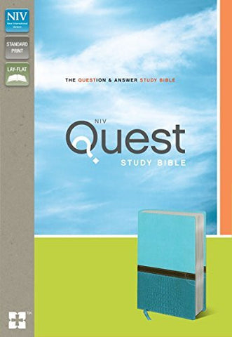 NIV, Quest Study Bible, Imitation Leather, Blue/Blue: The Question and Answer Bible