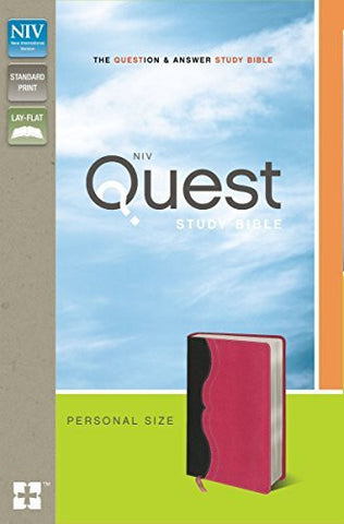 NIV, Quest Study Bible, Personal Size, Imitation Leather, Gray/Pink, Lay Flat: The Question and Answer Bible