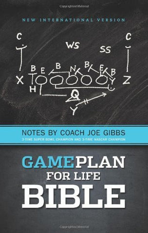 NIV, The Game Plan for Life Bible, Hardcover: Notes by Joe Gibbs
