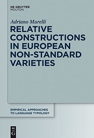 RELATIVE CONSTRUCTIONS   EALT  50 (Empirical Approaches to Language Typology [Ealt])