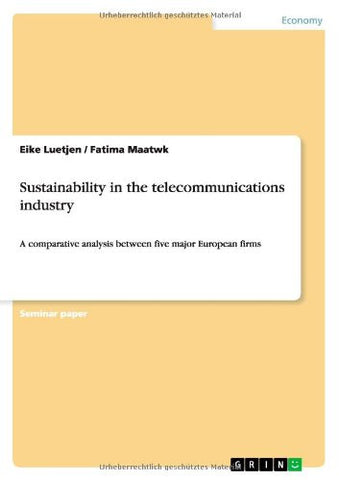 Sustainability in the Telecommunications Industry