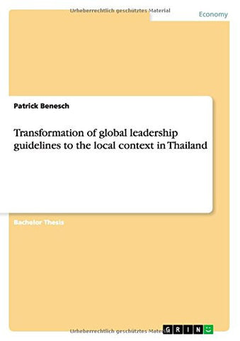 Transformation of global leadership guidelines to the local context in Thailand