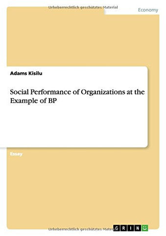 Social Performance of Organizations at the Example of BP