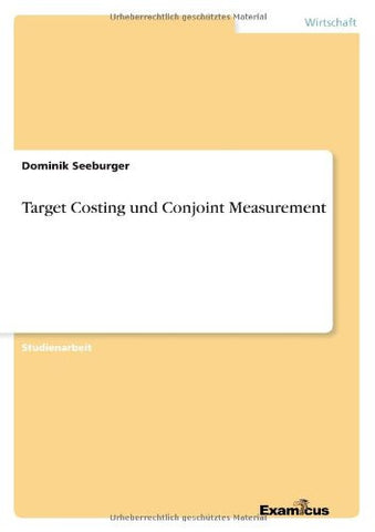 Target Costing Und Conjoint Measurement (German Edition)