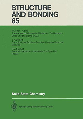 Solid State Chemistry (Structure and Bonding)