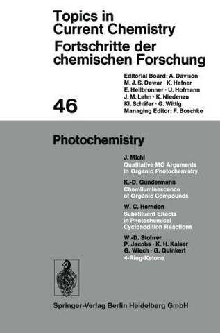 Photochemistry (Topics in Current Chemistry)