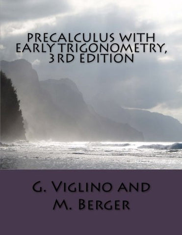 Precalculus with Early Trigonometry, 3rd edition