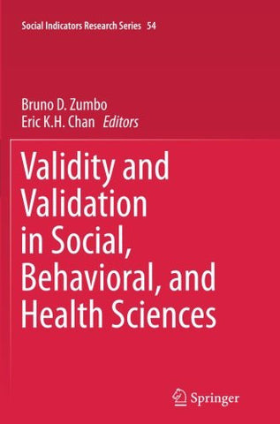 Validity and Validation in Social, Behavioral, and Health Sciences (Social Indicators Research Series)