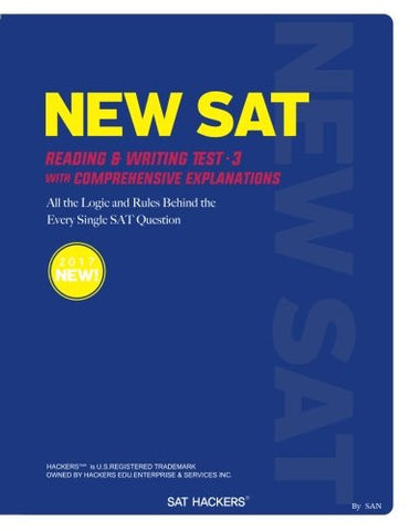 NEW SAT Reading & Writing Test 3: with Comprehensive Explanations (HACKERS) (Volume 2)