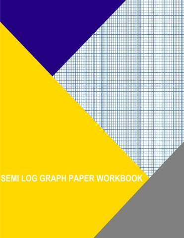 Semi Log Graph Paper Workbook: 1 Decade By 10 Divisions