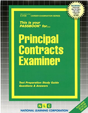 Principal Contracts Examiner (Passbooks) (Career Series (Natl Learning Corp))