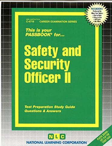 Safety and Security Officer II (Passbooks) (Career Series (Natl Learning Corp))