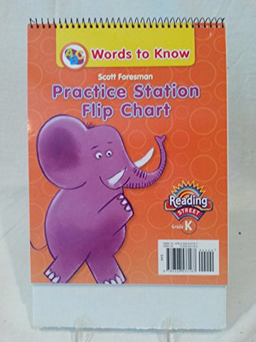 READING 2011 WORDS TO KNOW PRACTICE STATION FLIP CHART GRADE K