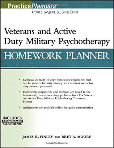 Veterans and Active Duty Military Psychotherapy Homework Planner, (with Download) (PracticePlanners)