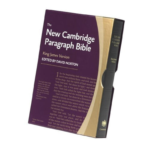 New Cambridge Paragraph Bible KJ595:T Black Calfskin: Personal size