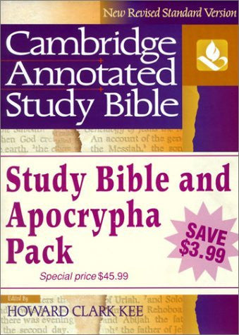 NRSV Cambridge Annotated Study Apocrypha Hardback Shrink-Wrapped Pack NR340