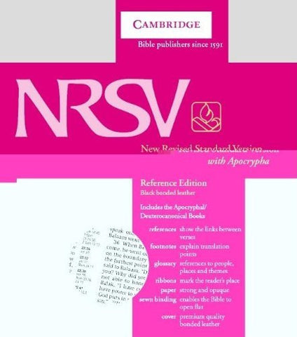 NRSV Reference Edition with Apocrypha Black bonded leather NRA22