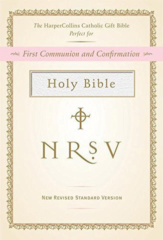 NRSV HarperCollins Catholic Gift Bible (white)