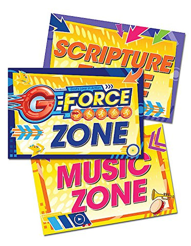 Vacation Bible School (VBS) 2015 G-Force Activity Center Signs & Publicity Pak: God's Love in Action (G-Force (Vbs)) - Hardcover