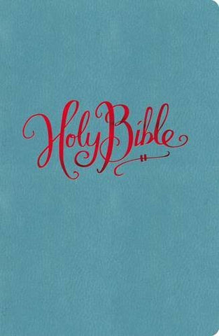 NKJV, Reference Bible, Large Print, Compact, Imitation Leather, Turquoise