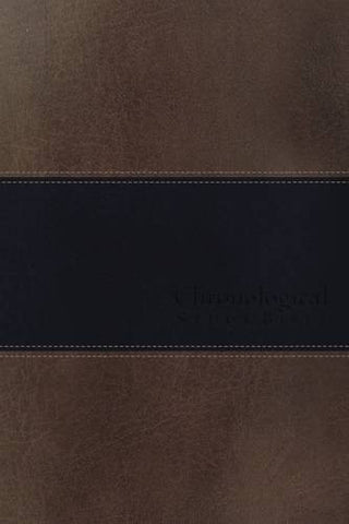 NIV, Chronological Study Bible, Imitation Leather, Brown/Navy (Signature)