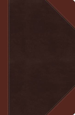 NKJV, Reference Bible, Giant Print (13pt), Imitation Leather, Brown, Center column, Full Color, Indexed (Classic)