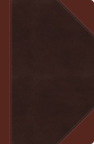 NKJV, UltraSlim Reference Bible, Large Print, Imitation Leather, Brown, Center Column (Classic)