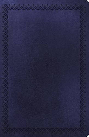 NKJV, UltraSlim Reference Bible, Large Print, Imitation Leather, Navy, Full Color, Center Column (Classic)