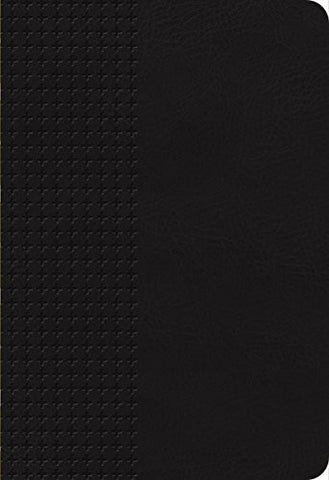 NKJV, End-of-Verse Reference Bible, Giant Print (11pt), Personal Size, Imitation Leather, Black, Full Color