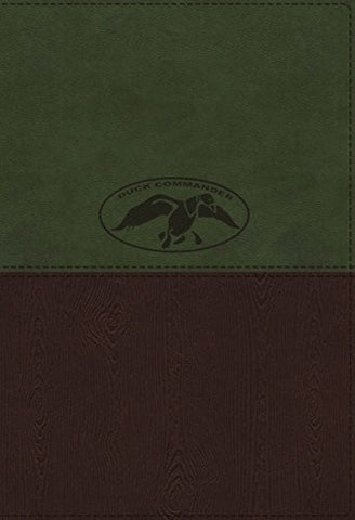 NKJV, Duck Commander Faith and Family Bible, Imitation Leather, Green/Brown, Indexed (Signature)