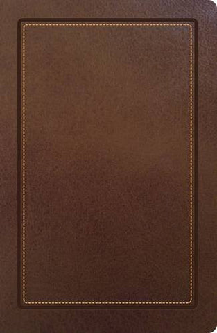 NKJV, UltraSlim Reference Bible, Imitation Leather, Brown, Center column, Indexed (Classic)