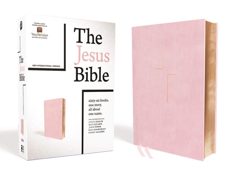 The Jesus Bible, NIV Edition, Leathersoft over Board, Pink, Comfort Print (Hardcover)