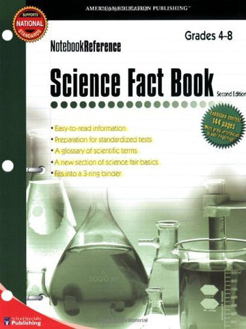Science Fact Book, Grades 4 - 8: Second Edition (Notebook Reference)