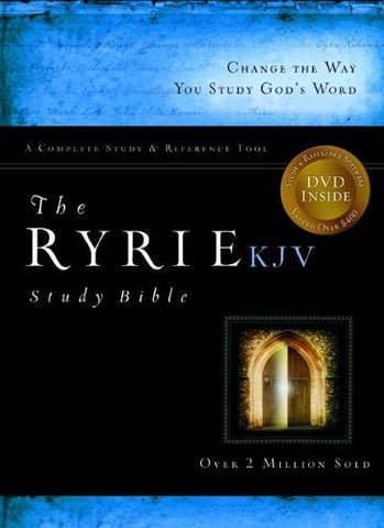 The Ryrie KJV Study Bible Bonded Leather Black Red Letter Indexed (Ryrie Study Bibles 2008)