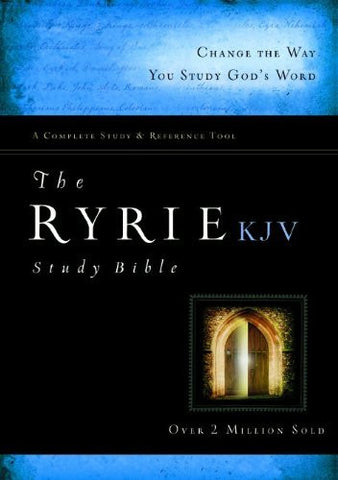 The Ryrie KJV Study Bible Hardcover Red Letter Indexed (Ryrie Study Bibles 2008)