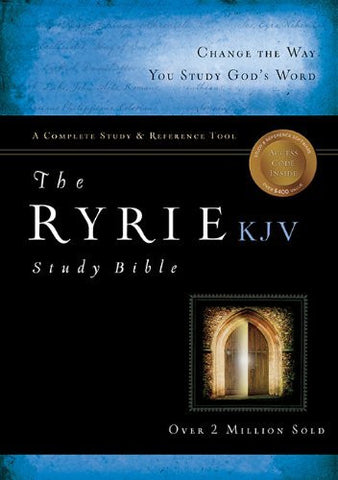 The Ryrie KJV Study Bible Genuine Leather Burgundy Red Letter Indexed (Ryrie Study Bibles 2008)